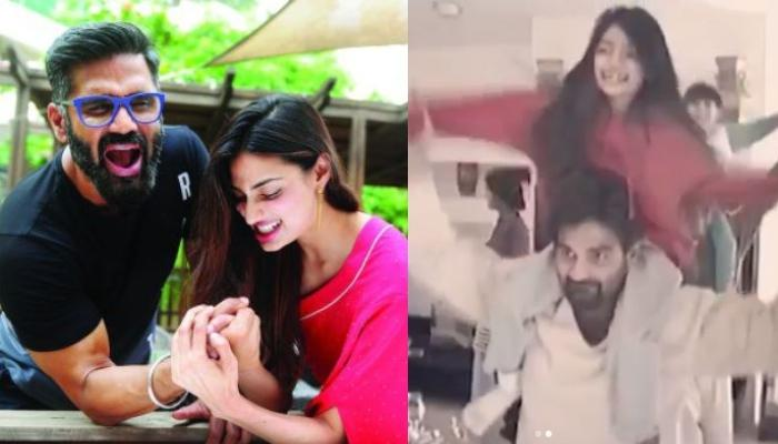 On Suniel Shetty's Birthday, Daughter, Athiya Shetty Shares Video Of Her Cute Dance On His Shoulders