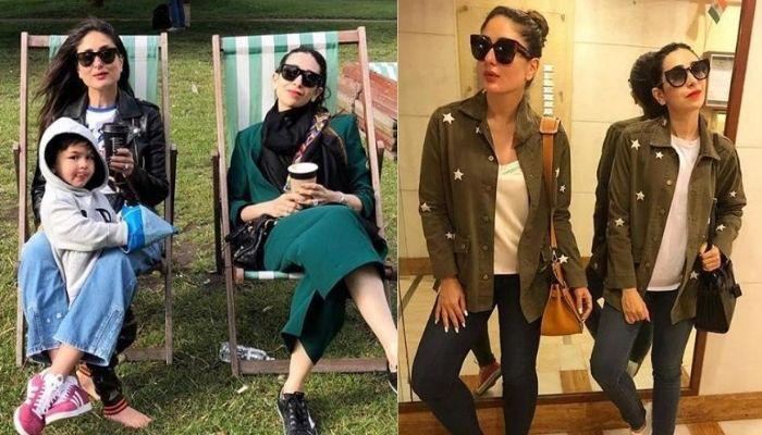 Karisma Kapoor Twins With Sister, Kareena Kapoor Khan In Big Sunglasses For Their Sea Selfie