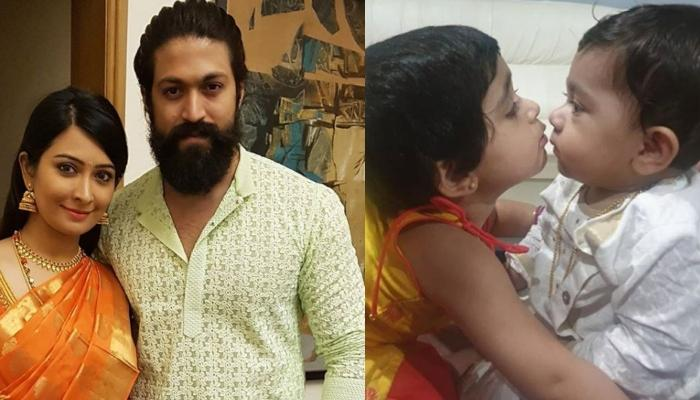 Yash And Radhika Pandit Share Pictures Of Their Little Krishna And Radha, Look Cute As Cotton Balls