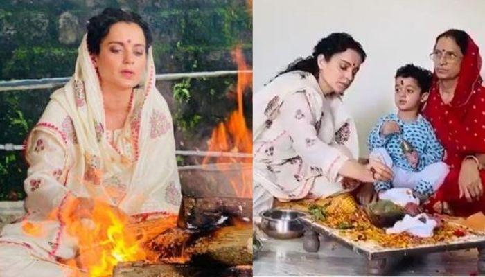 Kangana Ranaut's Mother Organised A Mahamritunjay Puja At Home For Her Daughter's Safety [Video]