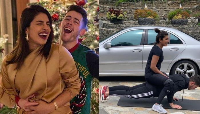 Priyanka Chopra Jonas' Photo Sitting On Hubby, Nick Jonas' Back Receives A Hilarious Meme Makeover