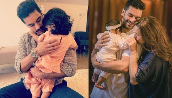 Daddy, Angad Bedi Paints The Little Nails Of Daughter, Mehr Dhupia Bedi As She Instructs Him [Video]
