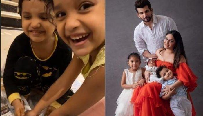 Mahhi Vij's Adopted Kids, Khushi And Rajveer Make Ganesha From Clay, Chant Ganpati Bappa Moriya