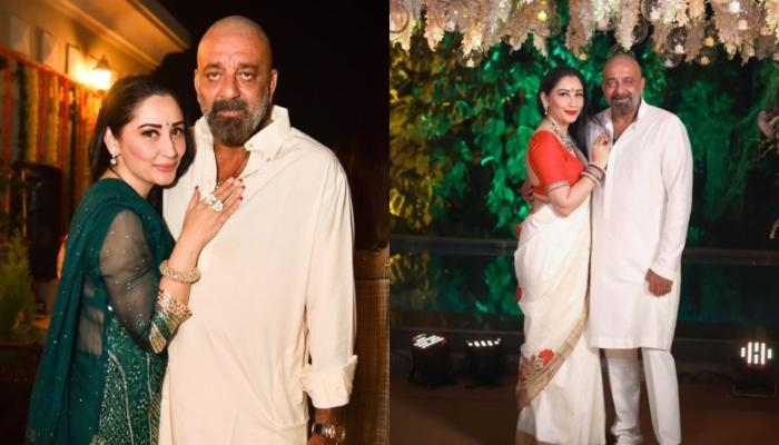 Sanjay Dutt Celebrates Ganesh Chaturthi With Wife, Maanayata Dutt Amidst Cancer Rumours