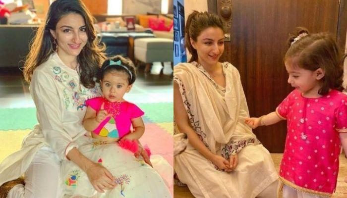 Soha Ali Khan's Little Daughter, Inaaya Makes Colourful Lord Ganesha To Celebrate Ganesh Chaturthi