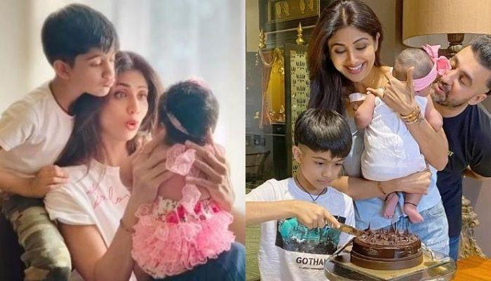 Shilpa Shetty Shares Video Of Samisha's First Ghaghra Choli As Family Plans To Twin For Ganesh Puja