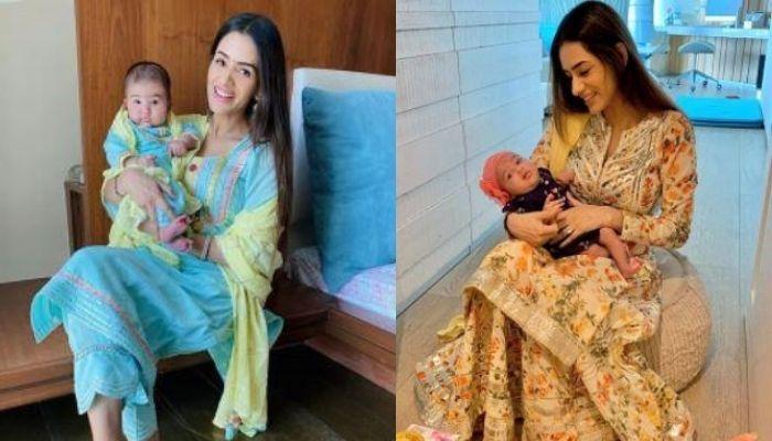 Smriti Khanna's Daughter, Anayka Looks Like Ganpati Bappa, The Mommy Twins With Her Little Gannu