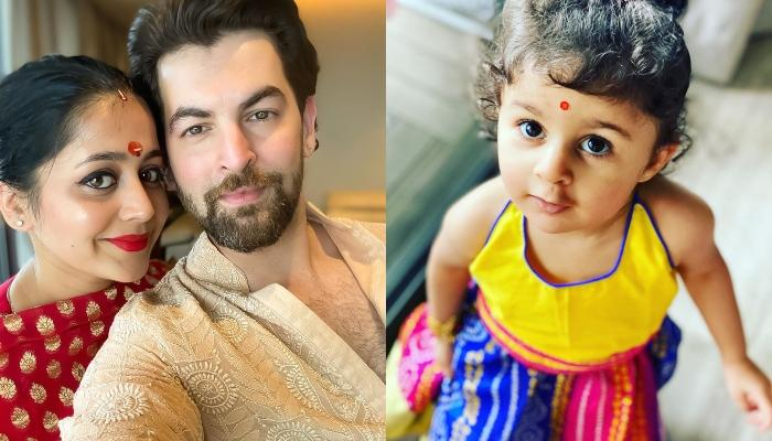 Neil Nitin Mukesh's Daughter, Nurvi Looks Cute In A 'Lehenga' As She Gets Ready For Ganesh Chaturthi