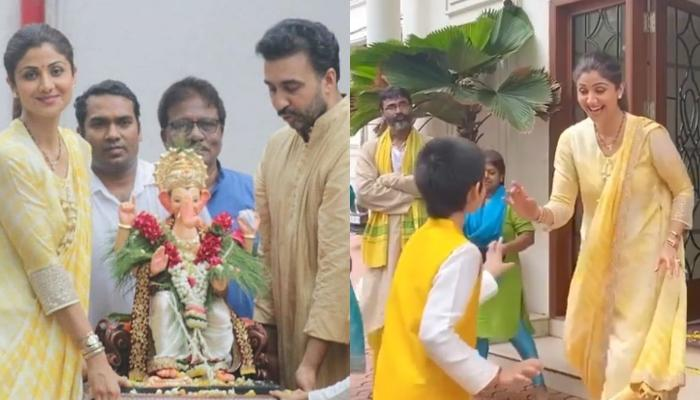 Shilpa Shetty Dances Her Heart Out With Viaan Raj Kundra, Opts For An Eco-Friendly Ganpati Visarjan
