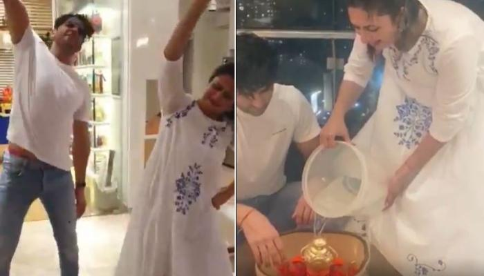 Divyanka Tripathi And Vivek Dahiya Dance Like No One's Watching Before Eco-Friendly Ganpati Visarjan