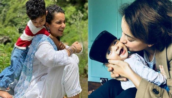 Kangana Ranaut Shares A Photo From Play Session With Nephew, Prithvi, His Goofy Expressions Are Gold