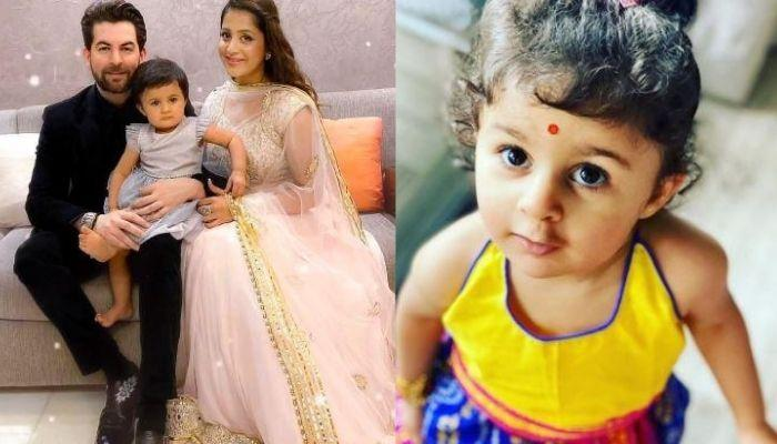 Neil Nitin Mukesh's Daughter, Nurvi Wears Her First Saree For Ganesh Puja, Dances On A Marathi Aarti