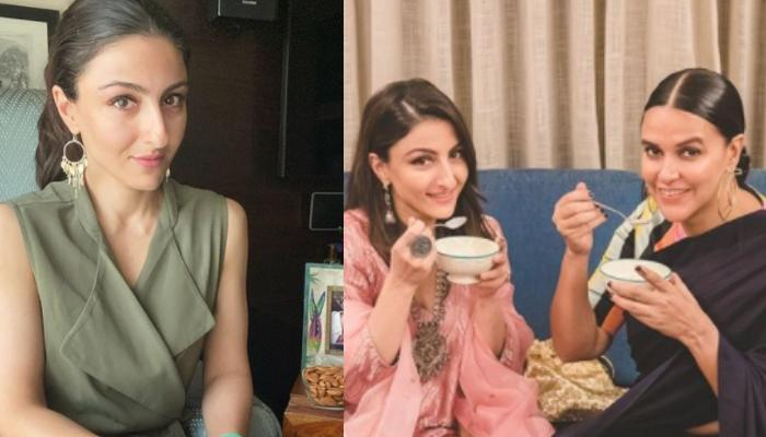 Soha Ali Khan Pens An Adorable Birthday Wish For BFF Neha Dhupia With A Picture From Her Baby Shower
