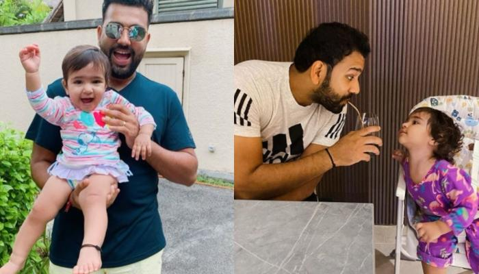 Rohit Sharma Receives A Perfect Send Off From Daughter, Samaira As He Leaves For IPL 2020 Training