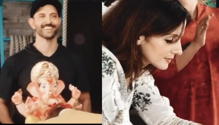 Hrithik Roshan Bids Goodbye To 'Ganpati Bappa' With Ex-Wife, Sussanne Khan And Family