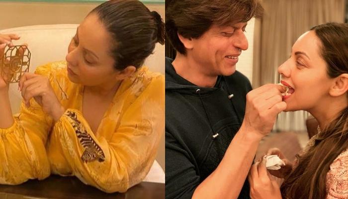 Gauri Khan Shares Glimpses Of Her Collection, But We Are Eyeing On Shah Rukh's Miniature Behind Her