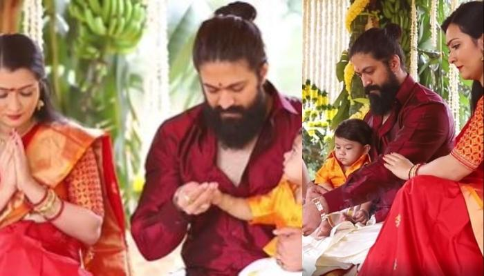 K.G.F. Star, Yash And Radhika Pandit Reveal Name Of Their Son, Share Video Of His Naamkaran Ceremony