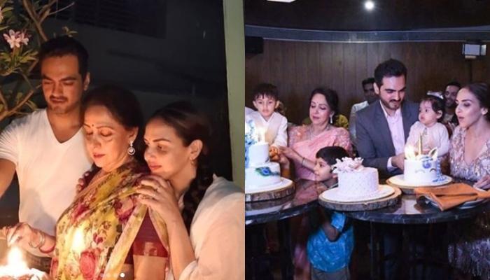 Hema Malini Bids Farewell To Ganpati Bappa With Daughter, Esha And Family, Shares Celebration Photos