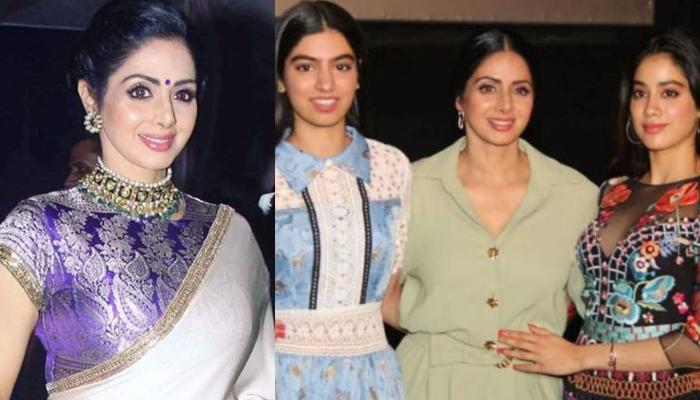 Rare Throwback Picture Of Sridevi Kapoor Twinning In White With Baby Janhvi Kapoor And Khushi Kapoor