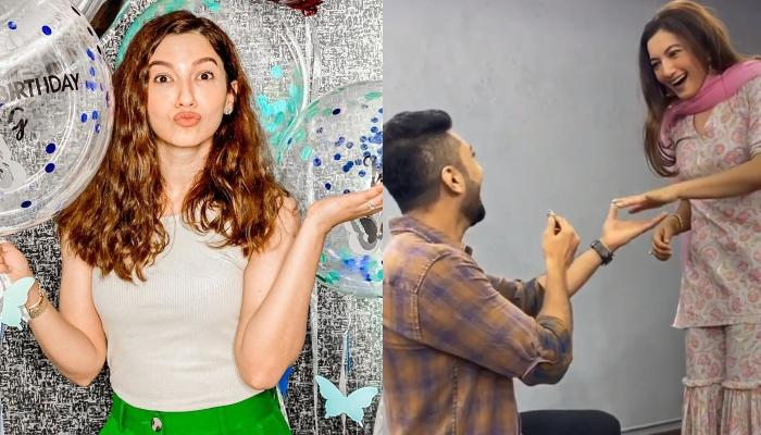 Gauahar Khan's Rumoured BF, Zaid Darbar Goes Down On His Knees And Proposes Her With A Ring [Video]