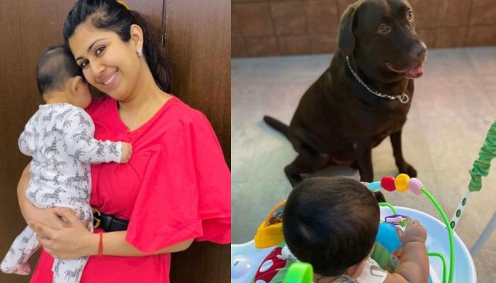 Ankita Bhargava Shares A Glimpse Of Her Little Munchkin, Mehr, Playfully Troubling Their Pooch