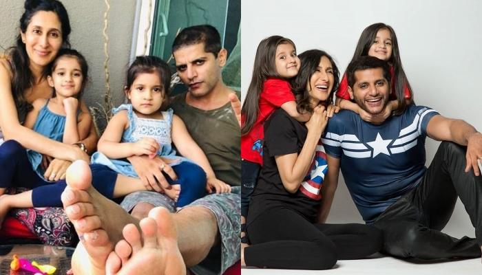 Karanvir Bohra Tries To Tell A Bed Time Story To His Twins, Bella And Vienna, They Start Crying
