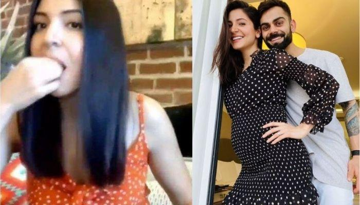 Anushka Sharma Makes Cute Faces When Caught Snacking Amidst Work Call, Emits Pregnancy Glow [Video]