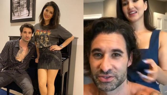 Sunny Leone Turns Hairstylist For Hubby, Daniel Weber But The Latter Is Scared To See The Final Look