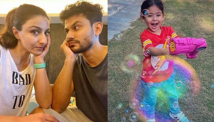Inaaya Naumi Kemmu Enjoys 'Swing' With Mommy, Soha Ali Khan As They Twin In Summer Hats