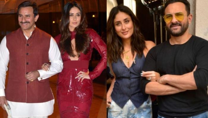 When Saif Ali Khan Couldn't Take His Eyes Off His Wife, Kareena Kapoor Khan As They Twinned In White