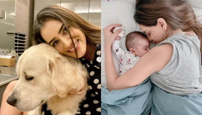 Smriti Khanna's Pooch, Lucas Can't Stay Away From Her Baby Girl, Anayka, As She Caresses Him [Video]