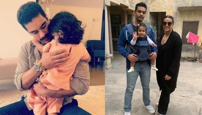 Angad Bedi Shares His Baby, Mehr's Cycling Video By The Seashore, Her Mickey Hairstyle Is The Cutest