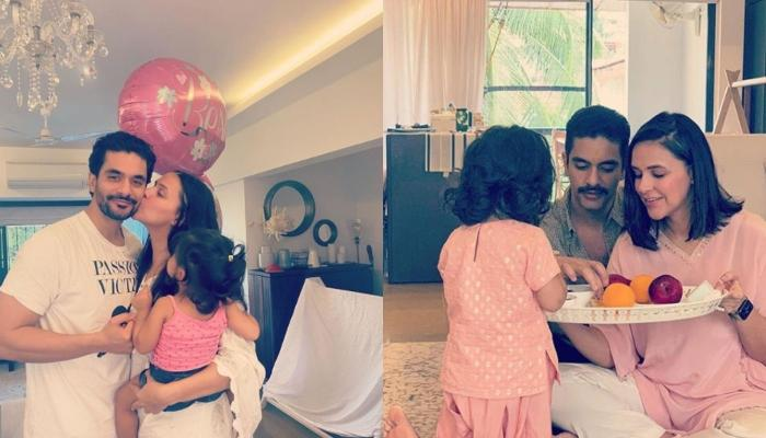 Angad Bedi Gives A Glimpse Of Sunday 'Aatank' Of Daddy's Little Girl Mehr Dhupia Bedi [Video Inside]
