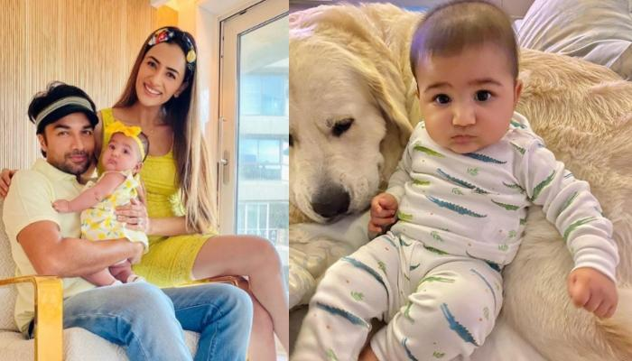 Smriti Khanna's Little Doll, Anayka's Cuteness Knows No Bounds As She Grabs Their Pooch, Lucas
