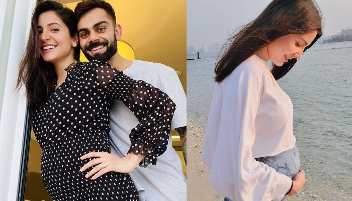 Anushka Sharma Radiates Pregnancy Glow In A Black Monokini, Flaunts Her Baby Bump