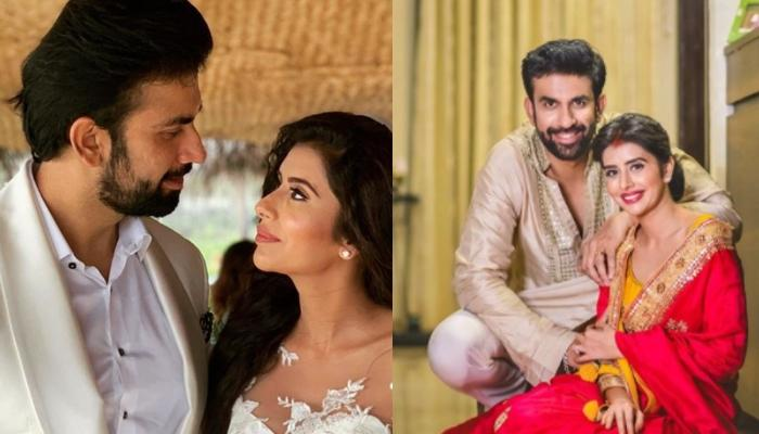 Charu Asopa And Rajeev Sen Celebrate Their First Anniversary Twinning In Their White Wedding Outfits