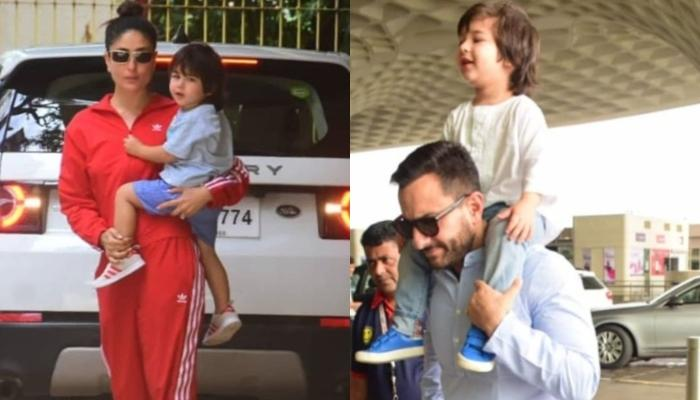 Kareena Leaves With Saif And Taimur For The Shoot Of 'Laal Singh Chaddha' Post Birthday Celebrations
