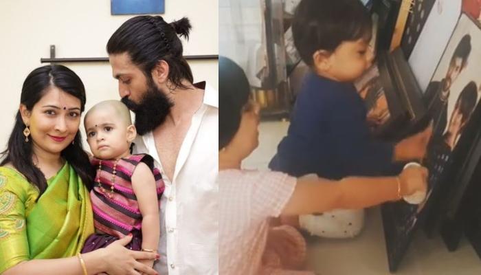 K.G.F. Fame, Yash's Daughter, Ayra Helps Brother, Yatharv Identify Mumma-Dadda, Radhika Shares Video