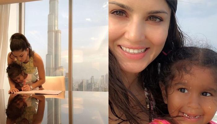 Sunny Leone Shares Cute Pictures From Her Painting Session With Her Daughter, Nisha Kaur Weber