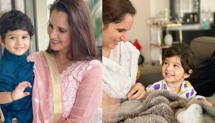 Sania Mirza Shares A Glimpse Of Her Boy, Izhaan Mirza Malik, Looks Adorable As He Rolls Over Her