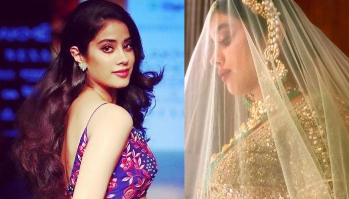 Janhvi Kapoor Looks Like An Ethereal Bride In Mint Green Lehenga, Hears Shehnayi Playing On Her Mind