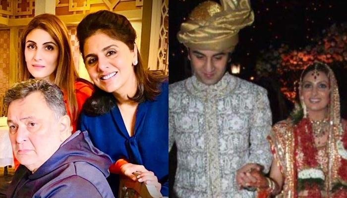 Unseen Photo Of Rishi Kapoor, Neetu Kapoor And Ranbir Kapoor Post Riddhima Kapoor's Chooda Ceremony