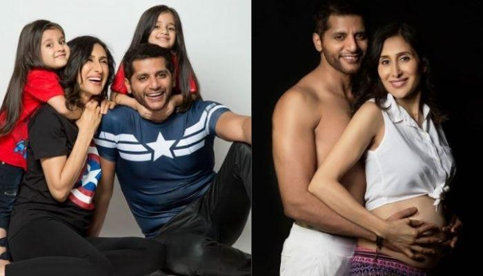Teejay Sidhu's Daughters, Bella-Vienna Accompany Her And Daddy, Karanvir For Her Pregnancy Checkup