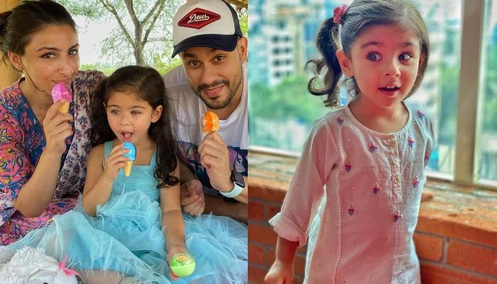 Inaaya Naumi Kemmu Cuts A Unique Frozen-Themed Cake On Her Third Birthday Bash