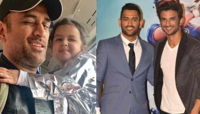 When Mahendra Singh Dhoni Was In Awe Of His Daughter, Ziva Dhoni Playing With Sushant Singh Rajput
