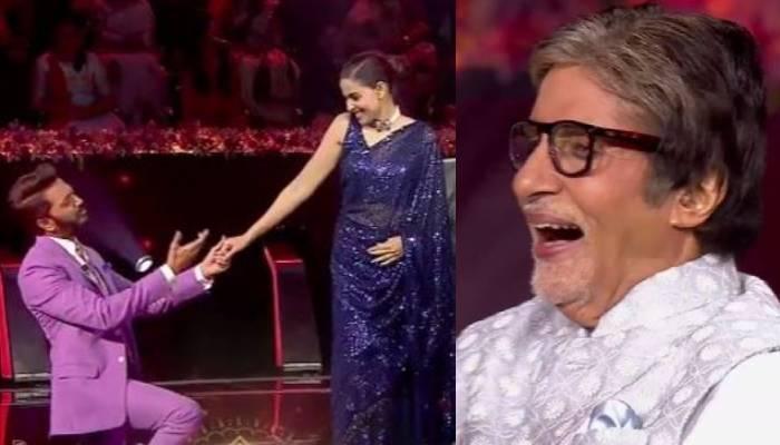 Riteish Deshmukh And Genelia On KBC 13   केबीसी 13 में अमिताभ बच्चन के साथ  रितेश और जेनेलिया देशमुख