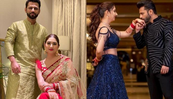 Rahul Vaidya Misses His Wife, Disha Parmar On Their First Karwa Chauth, She Stuns In A Red Saree