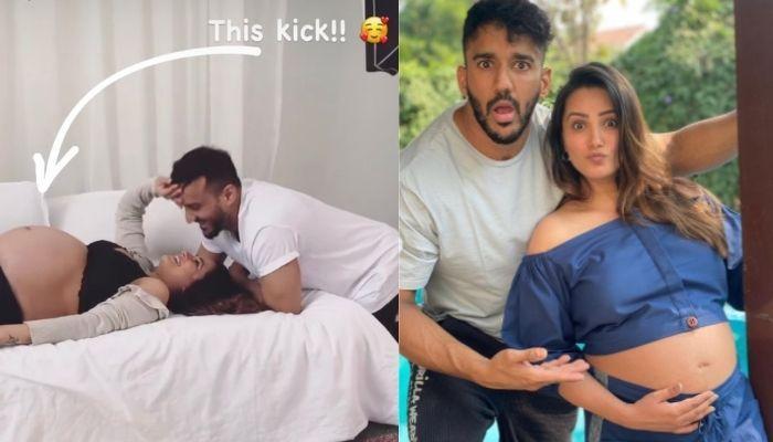 Anita Hassanandani's Baby Kicks As Hubby, Rohit Reddy Romances Her For The Maternity Shoot [Video]