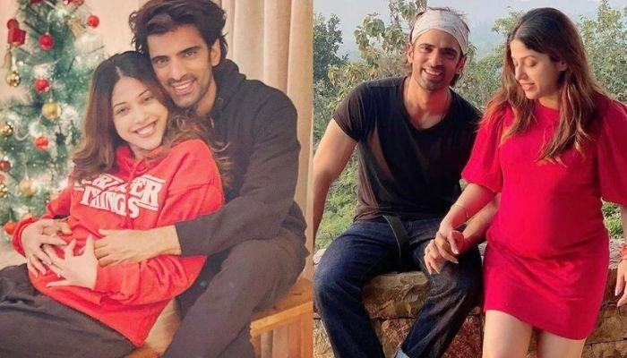 'Kullfi Kumarr Bajewala' Fame, Mohit Malik Poses With Pregnant Wife, Aditi Shirwaikar In The Pool