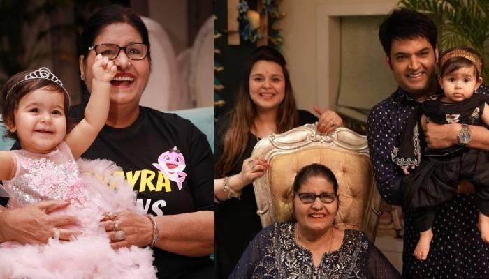 कपिल शर्मा ने मनाया अपनी मां का बर्थडे, तस्वीरों में देखें कैसे बेटी अनायरा की है केक पर नजर